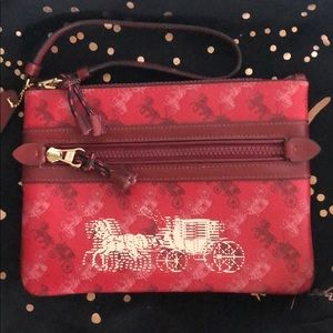 Coach Gallery Red Cherry Carriage Large Wristlet